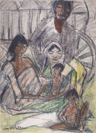tto Mueller, Gipsy Family with Cart, 1926