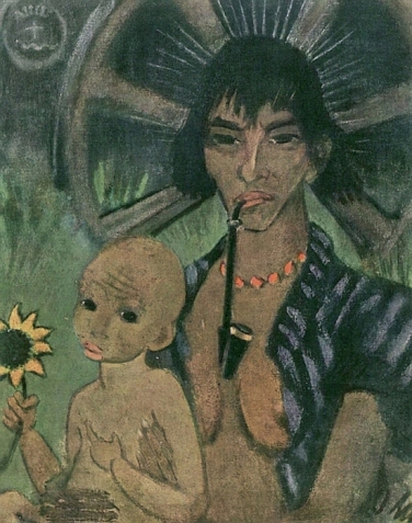 Otto Mueller, Gipsy Mother, 1926