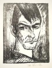 Otto Mueller, Self-Portrait Looking Right, 1921