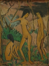 Otto Mueller, Three Women in the Countryside, 1919