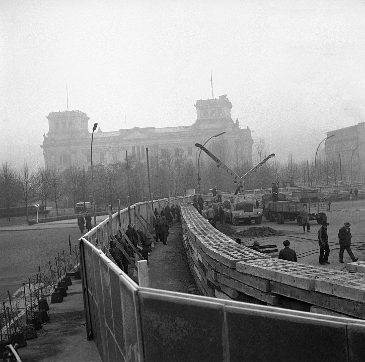 Reichstag and Berlin Wall November 1961