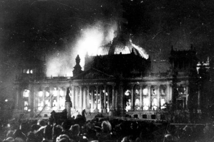 Burning of the Reichstag 1933.