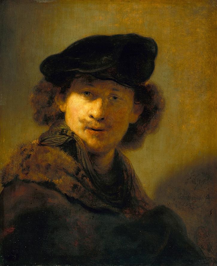 Rembrandt, Self Portrait with Velvet Beret, 1634