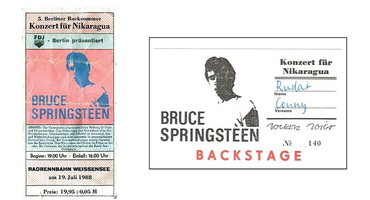 Springsteen in East Berlin 1988 tickets