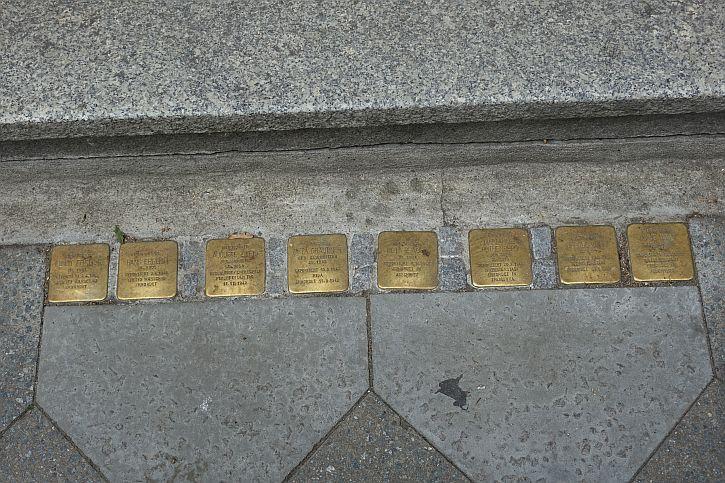 The Stolpersteine at 42 Fasanenstrasse
