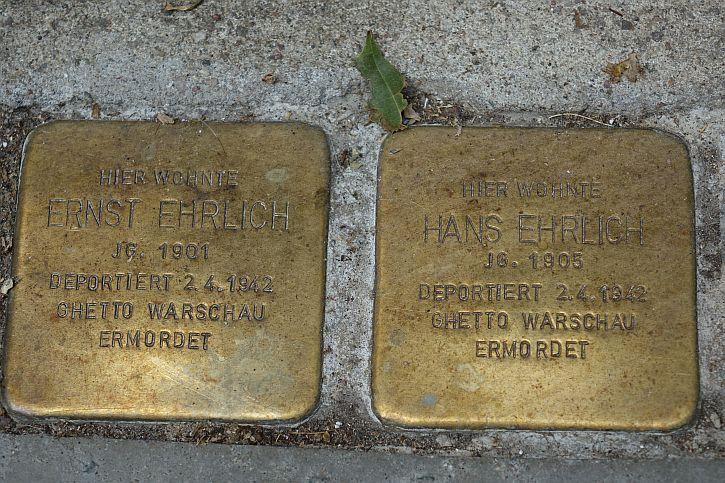 Stolpersteine for Ernst and Hans Erlich