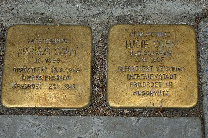 Stolpersteine for Markus and Lucie Cohn