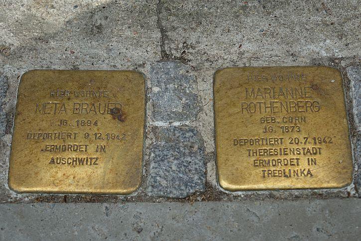 Stolpersteine for Meta Brauer and Marianne Rothenberg