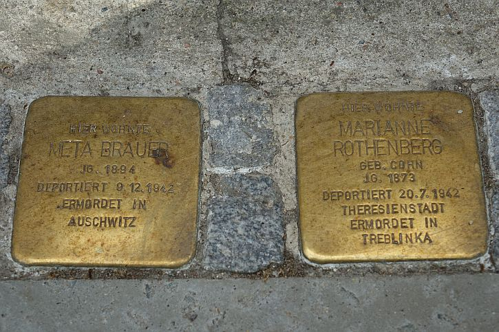 Stolpersteine for Meta Brauer and Marianne Rothenberg