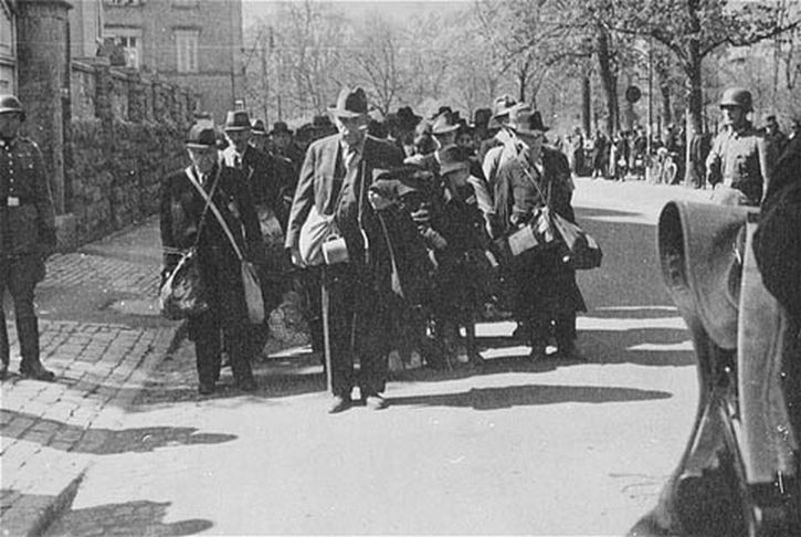 The deportation of Jews from Würzburg, 25th of April 1942