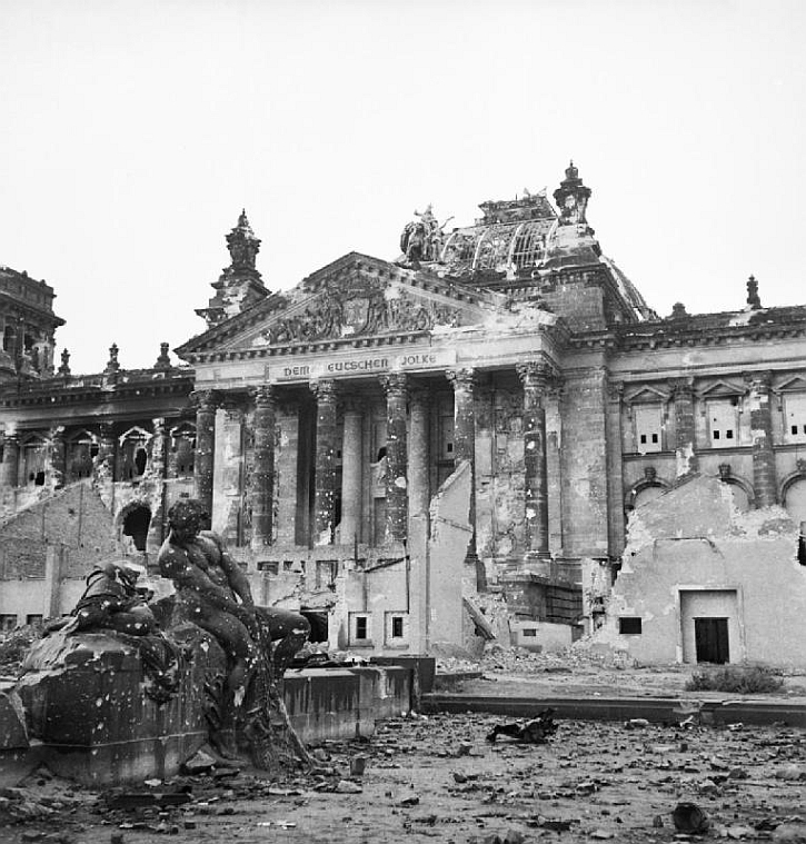 The Reichstag in postwar occupied Berlin, 3 June 1945
