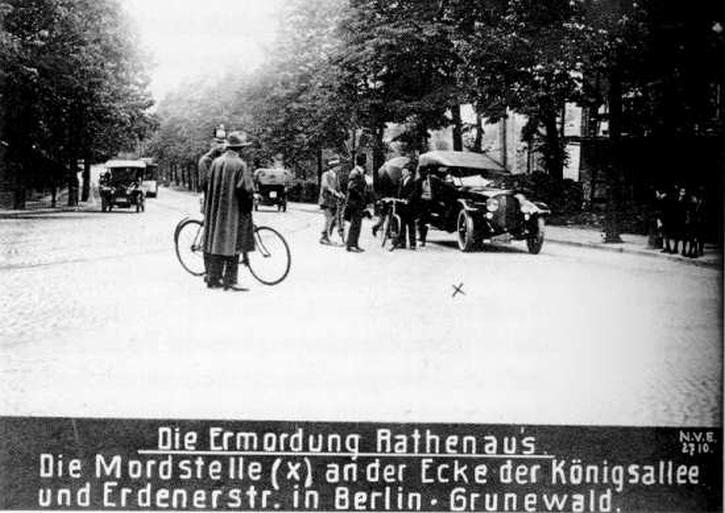 The site of Rathenau's murder on the Konigsallee