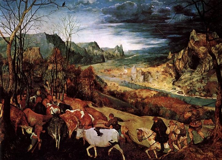 Bruege, The Return of the Herd,1565