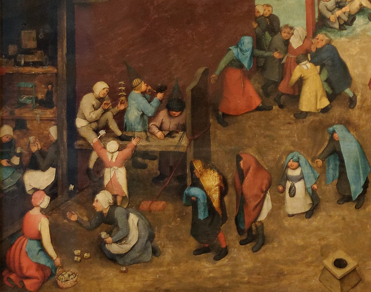 Children's Games, detail: the christening procession