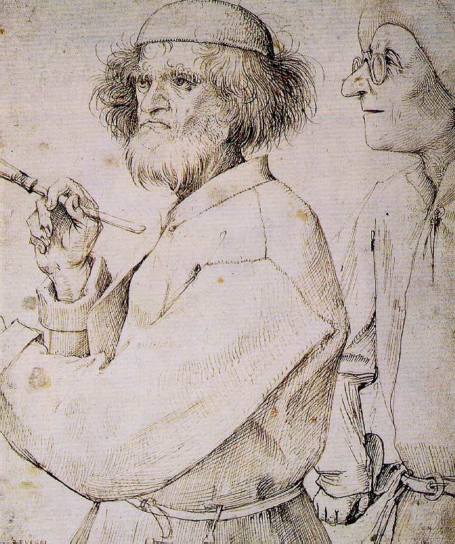 Bruegel, Painter and the Connoisseur, c 1565-8