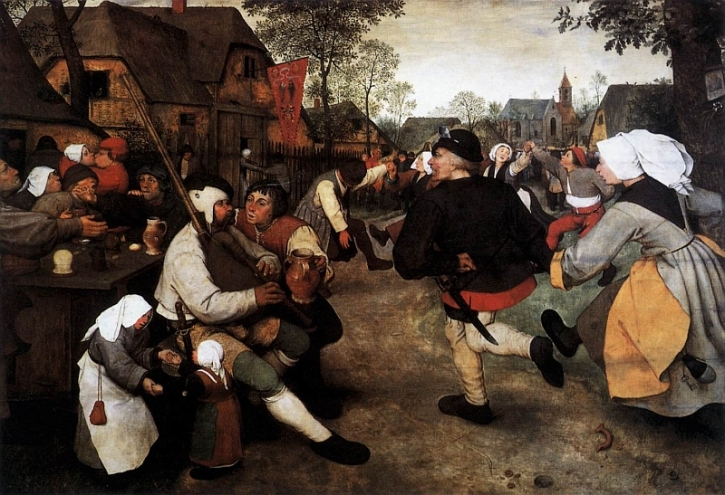 Bruegel, Peasants' Dance, 1568