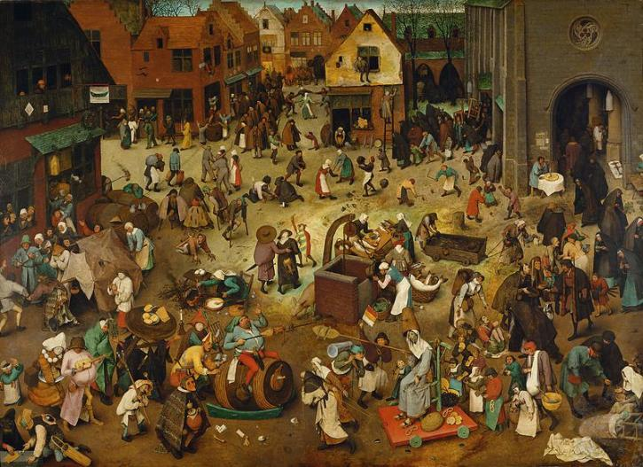 Bruegel, The Fight Between Carnival and Lent, 1564