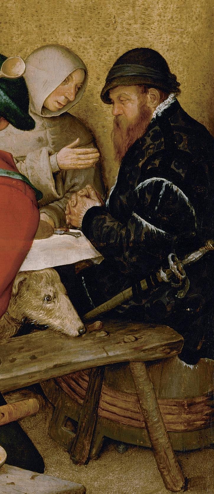 The Peasant Wedding, detail: self portrait?