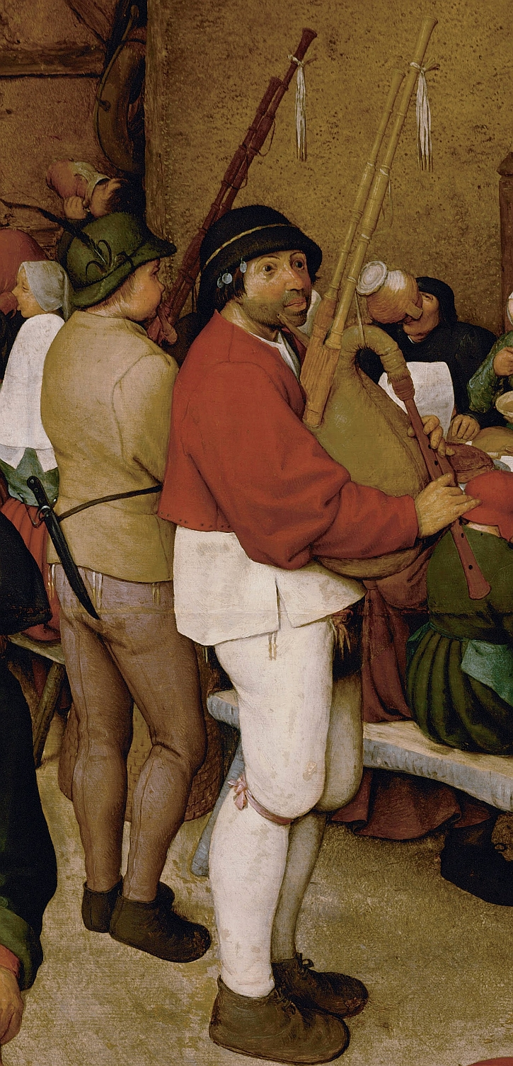 The Peasant Wedding, detail: the musicians