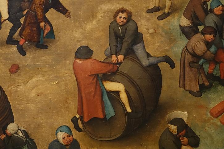 Children's Games, detail: riding a barrel