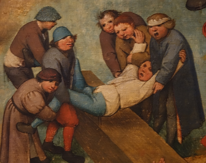 Children's Games, detail: tossing the boy