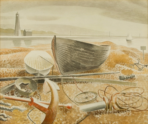Anchor and Boats, 1938