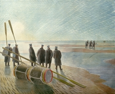 Dangerous work at low tide, 1940