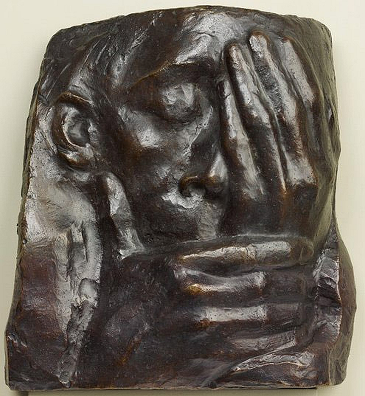 Kathe Kollwitz, Lamentation In Memory of Ernst Barlach Who Died in 1938