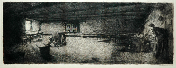 Kathe Kollwitz, Scene from Germinal, 1892