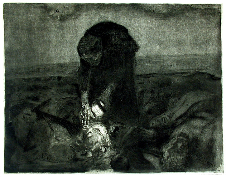 Kathe Kollwitz, The Peasant War, 'After the Battle', 1907