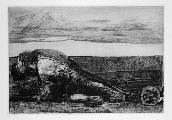 Kathe Kollwitz, The Peasant War, The Ploughman', 1907