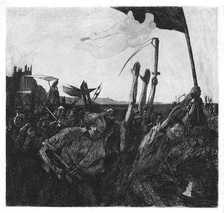 Kathe Kollwitz, Uprising, 1899