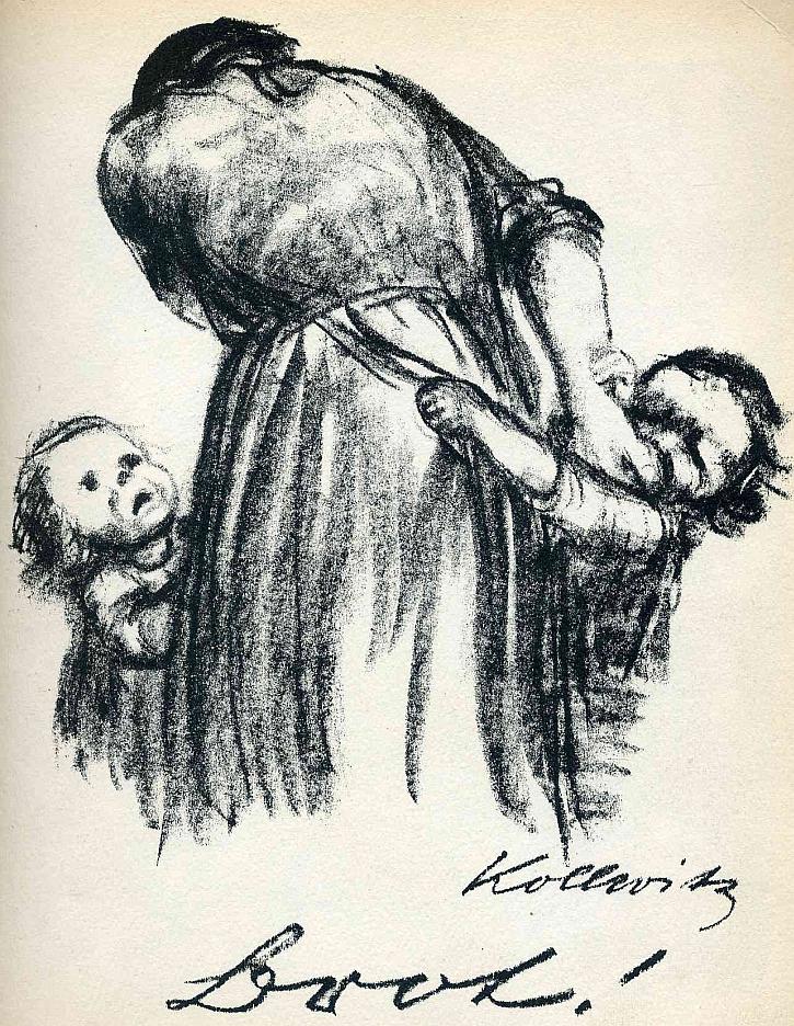 Käthe Kollwitz, Bread! 1924
