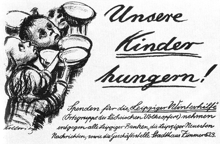 Käthe Kollwitz, Germany's Children Are Starving! 1924