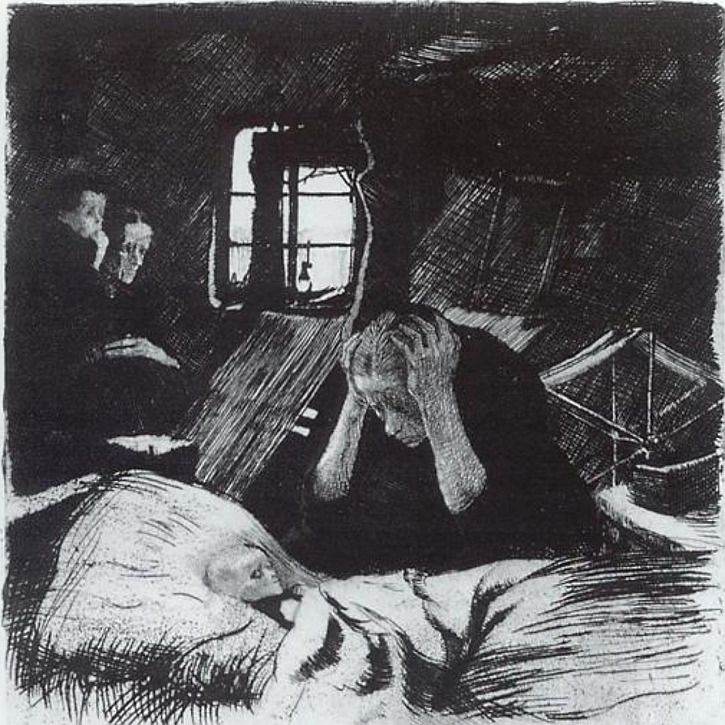 Käthe Kollwitz, Poverty,1893-1894