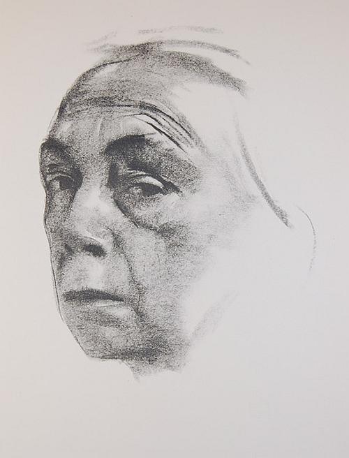 Käthe Kollwitz, Self-portrait, 1924