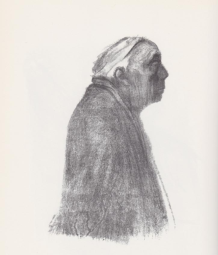 Käthe Kollwitz, Self Portrait Facing Right, 1938
