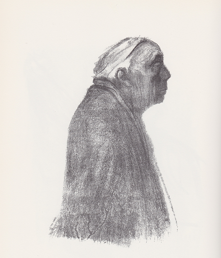 Käthe Kollwitz, Self Portrait Facing Right, 1938