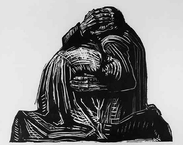 Käthe Kollwitz, The Parents, plate 3 from War (Krieg), 1923