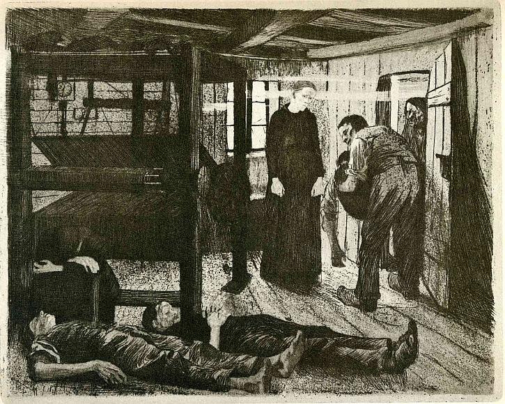 Käthe Kollwitz, The Weavers' Revolt, The End, 1894