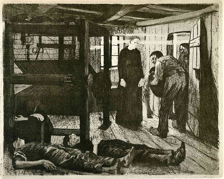 Käthe Kollwitz, The Weavers' Revolt, The End, 1894