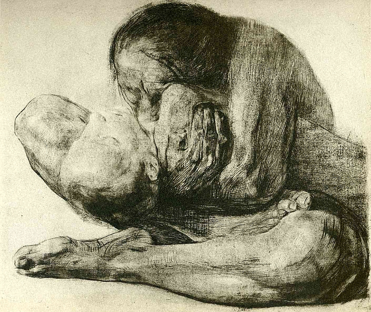 Käthe Kollwitz, Woman With Dead Child, 1903