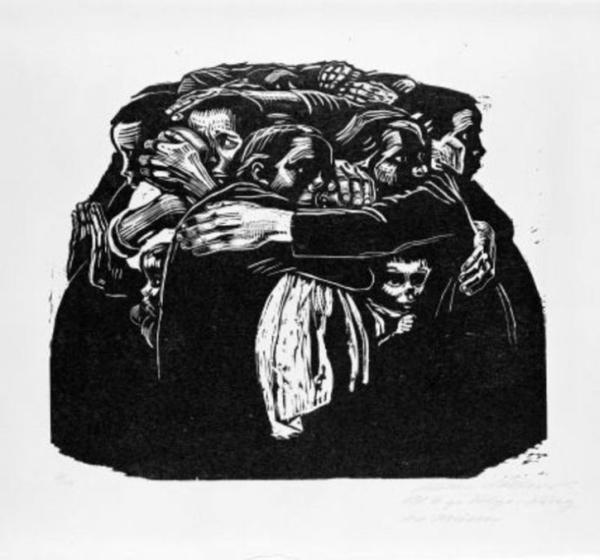 Käthe Kollwitz,Mothers, 1921