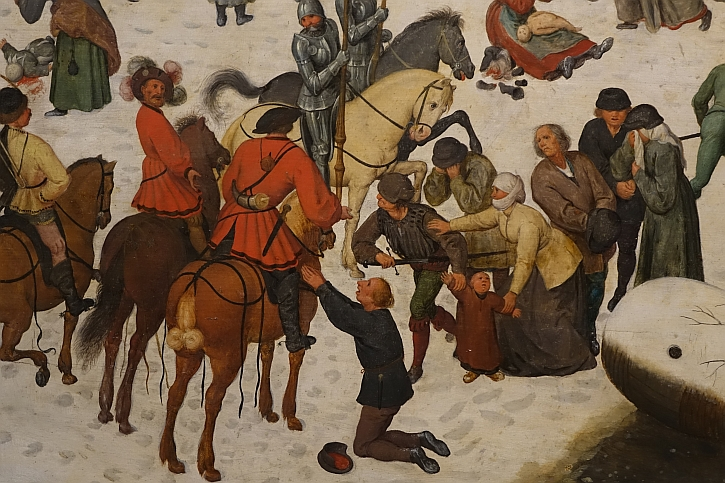 The Massacre of the Innocents, detail: men of high rank, representatives of the Hapsburgs