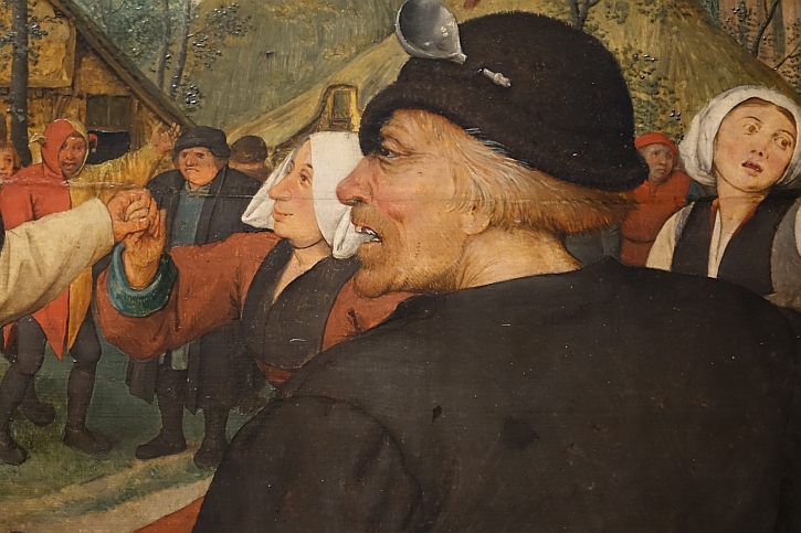 The Peasant Dance, detail: the man leading the dance