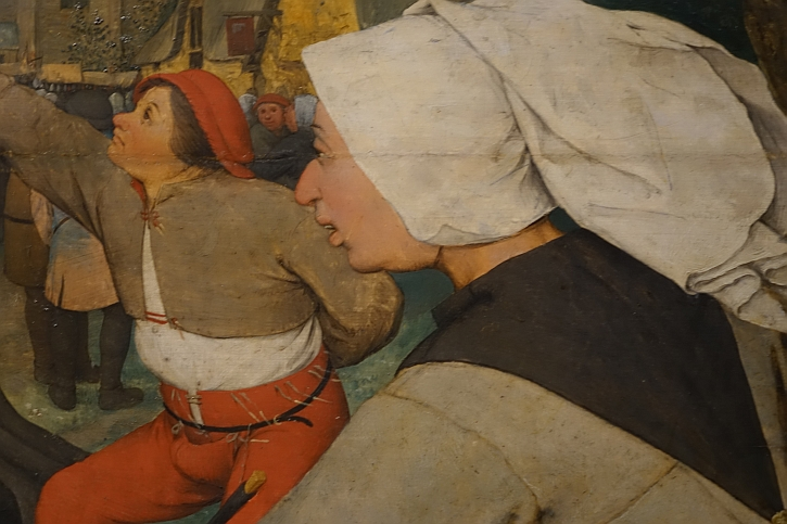 The Peasant Dance, detail: his lusty partner