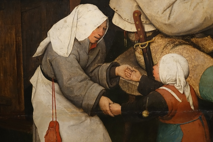 The Peasant Dance, detail: the children dance