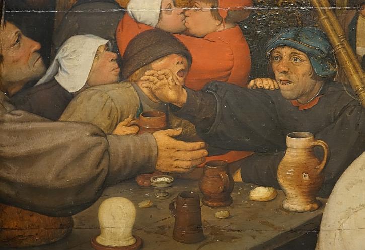 The Peasant Dance, detail: the beggar reaches out