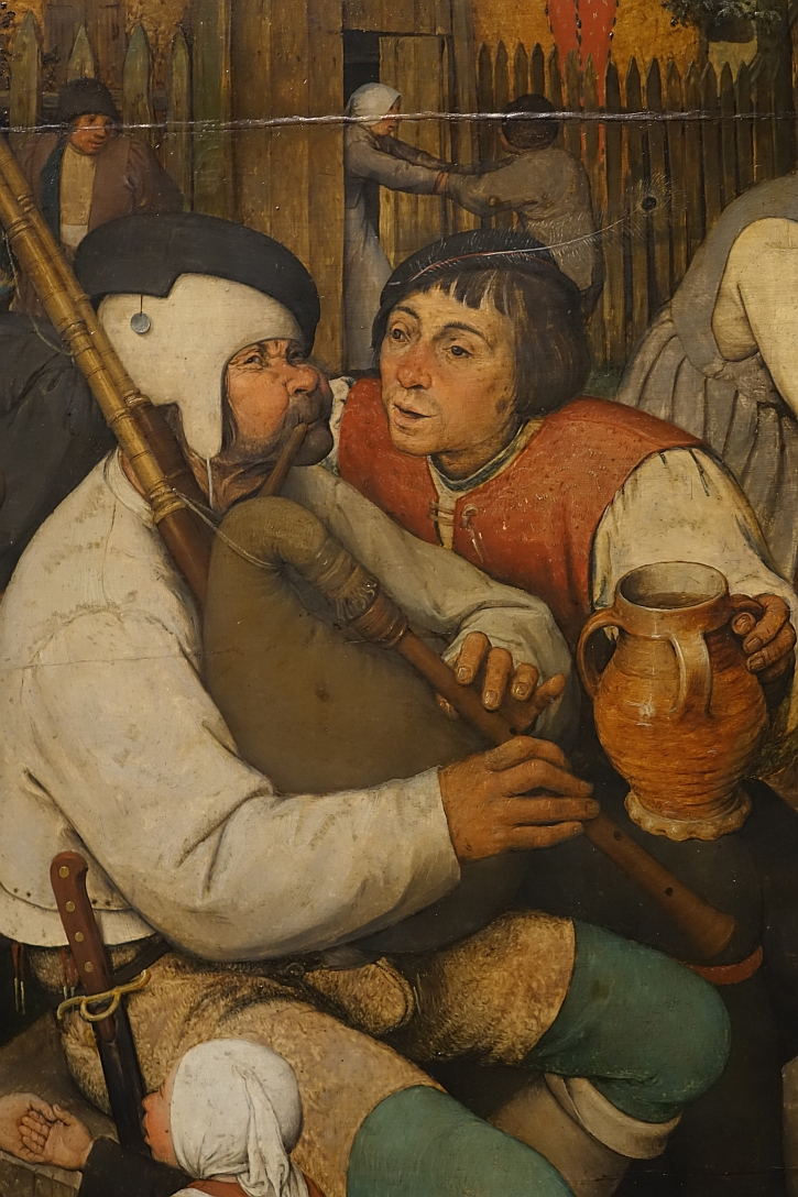 The Peasant Dance, detail: the bagpipe player