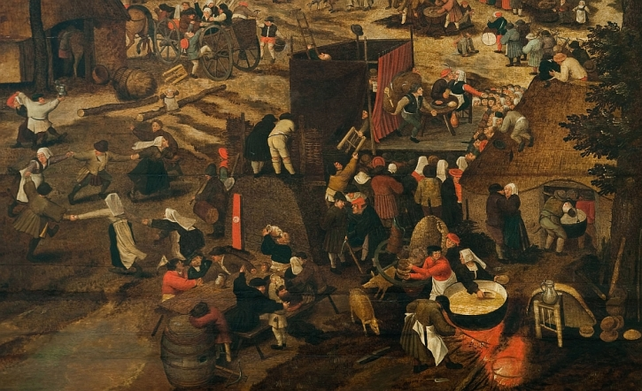 Pieter Brueghel The Younger, A VillageFestival in Honour of Saint Hubert and Saint Anthony, 1632 (detail)
